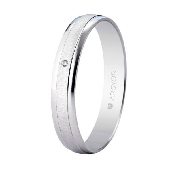 Alianza 3.5mm con diamante 0.01ct ORO 375/000 (9K)